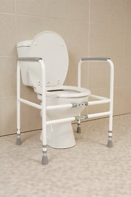 Original Aid raised Grab Mobility Toilet Seat Frame Support Disabled Elderly UK