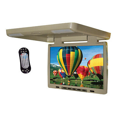 """TVIEW T154DVFD Tview 15.4"""" Flip Down Monitor with built in DVD IR/FM trans Tan"""