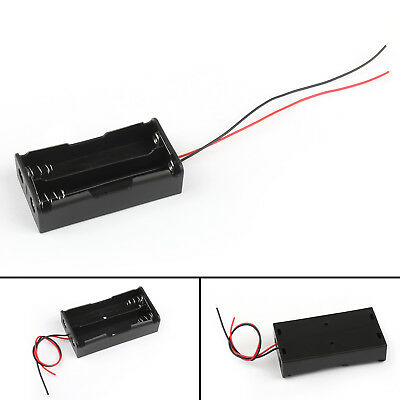 2 Cell 18650 Parallel Battery Holder Case For 3.7V Batteries With Leads AU