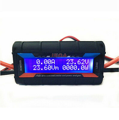 12V 150A Digital Volt Watt Meter Car Caravan 4x4 Camping Solar Power Voltmeter