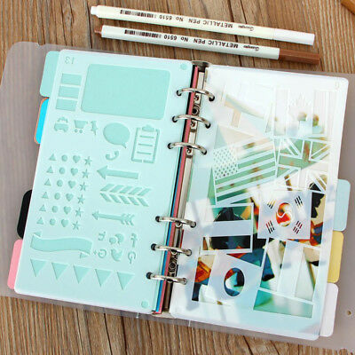 2pcs Plastic Craft Cutting Bullet Journal Stencil Dairy Planner Hallow Template
