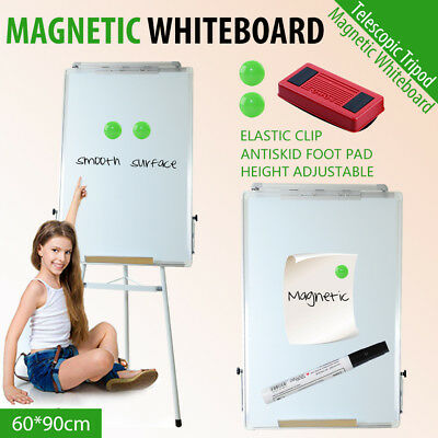 60x90cm Portable Magnetic Whiteboard Stand Home Office Telescopic Tripod Easel
