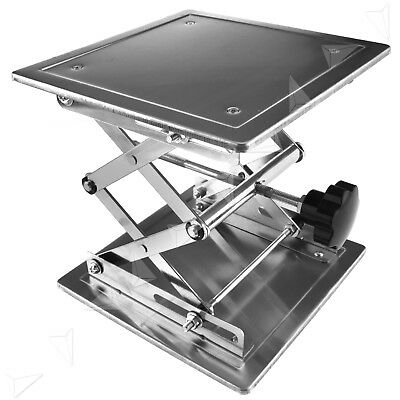 8'' Stainless Steel Lab Stand Table Scissor Lift laboratory Jiffy Jack 200*200mm