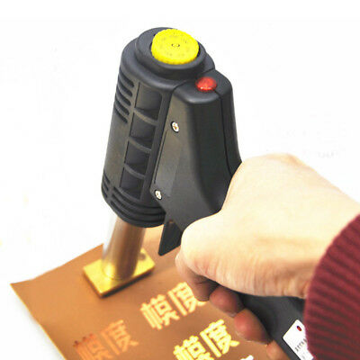 NEW 220V Handheld Leather Embossing Machine Hot Foil Stamping For LOGO Branding