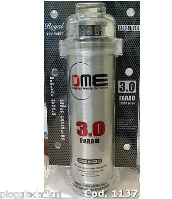 Condensatore digitale DME 3 Farad 11V 20V da amplificatore autoradio con display