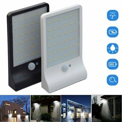 36-LED Solar Powered Motion Sensor Light Outdoor Waterproof Security Garden Lamp