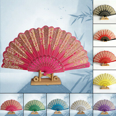 Foldable Fan Hand Held Gift for Ball Wedding Party Flower Chinese Style gift