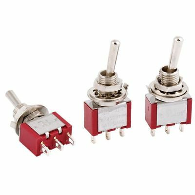2X(Momentary Lever Switch SPDT 2 Ways-6mm Mount-3 Pieces-AC250V 2A 120V 5A R3O7
