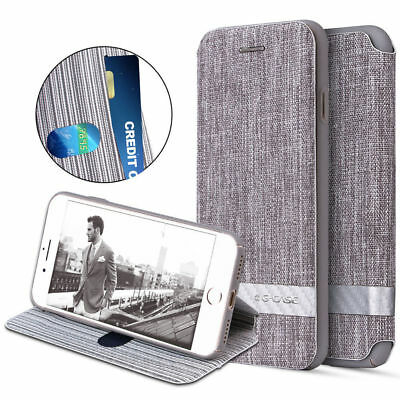 Luxury Canvas Leather Stand Wallet Shockproof Case Cover For iPhone X 8 Plus 6S
