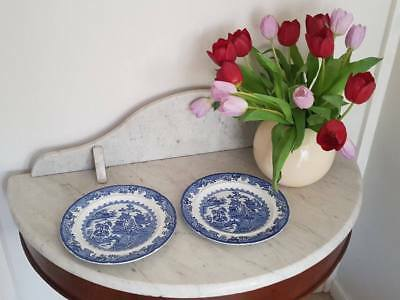 Vintage Masonu0027s Ironstone Blue Willow 9.5  inch Dinner Plate & VINTAGE MASONu0027S IRONSTONE Blue Willow 9.5