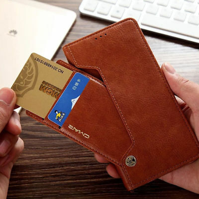Unique Flexible Flip Leather Men's Wallet Card Stand UP Case Cover For Samsung