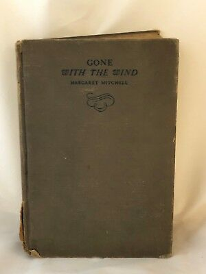 Gone With The Wind by Margaret Mitchell, Printed in 1937, Vintage