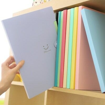 5 Pockets A4 Office Expanding File Folder Organizer Document Fastener 10 Colors