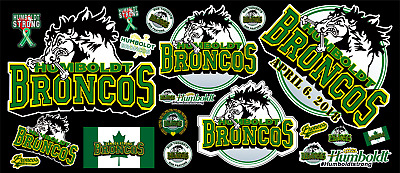 Humbolt Broncos Contour  Cut Vinyl Sticker Bundle
