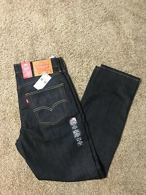 NWT Levis 541 Athletic Fit 'Rigid Dragon' Blue Jeans (0025) 1% Elastane Stretch