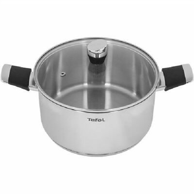Tefal Emotion 24cm Induction Stainless Steel Cooking Pot with Glass Lid