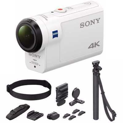 Sony 4K Action Cam with Balanced Optical SteadyShot and Support System Bundle