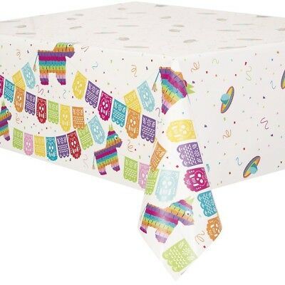 Mexican Fiesta Party Plastic Party Table Cover Tablecloth | Summer BBQ | Burro