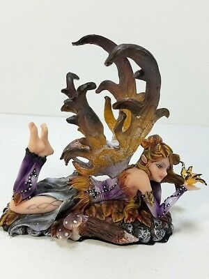 91472 Purple Fairy with Gold Butterfly Collectible Figurine Decor
