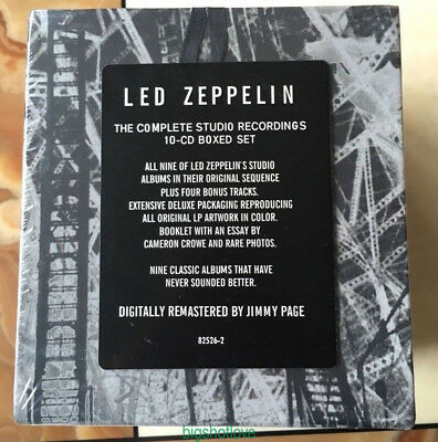 "Led Zeppelin ""The Complete Studio Recordings""(Sep-1993,10 CD) Box Set Collection"