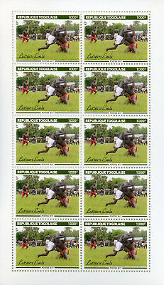 Togo 2017 MNH Evala Wrestlers 10v M/S Wrestling Sports Cultures Tradition Stamps