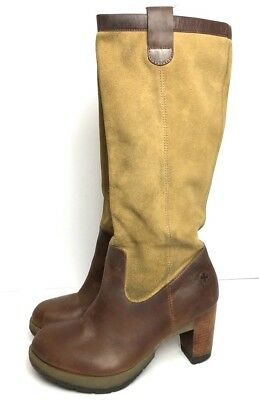 22f08d3cbda2fa Dr Martens Women Slouch Knee High Boot size US 8 Suede JOSIE Tan Brown