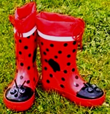 Stephen Joseph Kids Seconds Ladybug Wellington Rain Boots Ladybird Wellies Sizes