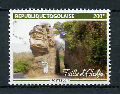 Togo 2017 MNH Aledjo Fault 1v Set Tourism Landscapes Nature Stamps