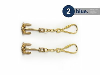 Solid Brass Fluke Anchor Keychain, Pair Five Oceans - BC2214-M2