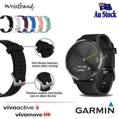 Wristband Adjustable Silicone Wrist Band for Garmin Vivoactive 3 / Vivomove HR