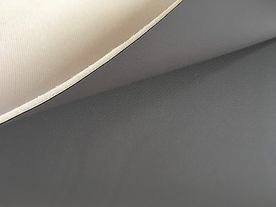 Grey Scrim Foam Backed 3Mm Textured Upholstery Leather Fabric Boat Camper Bed