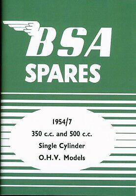 BSA Spare Parts Book  B31 B32 B33 B34 Motorcycles1954-1957