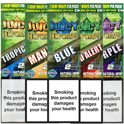 Juicy Jays Hemp Wraps Blunt Rolling Papers 5 different flavours