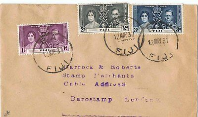 Fiji 1937 Coronation Issue First Day Cover