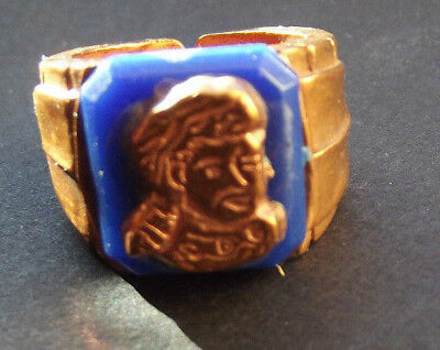 Vintage 1950's Davy Crockett Blue & Copper Ring  FREE SHIPPING