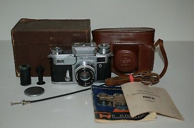 Kiev-3a Rare Soviet Rangefinder Camera. 1956. Jupiter-8. Box. 566363. UK Sale