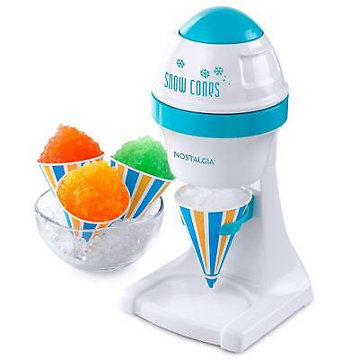 Electric Ice Shaver Machine Snow Cone Maker Sno Crusher Shaved Vending Tabletop