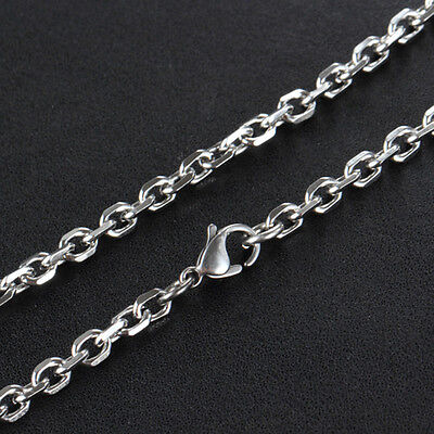 Wholesale Bulk Silver Stainless Steel Cut Rolo Necklace Chain Suit for Pendant