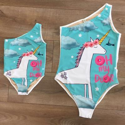 Family Match Mother Daughter Bikini Swimsuit Swimwear Women Kids Girls Beachwear