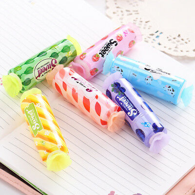 Cute Candy Modelling Correction Tape Students School Children Corrector Tools