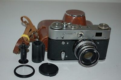Revue-3 (Fed-3) Vintage Soviet Rangefinder Camera + Case.1968. 8313261 UK Sale.