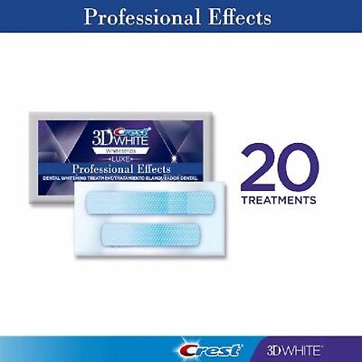 Crest 3D White Luxe Professional Effects Whitestrips 20 Pouches (NO BOX)