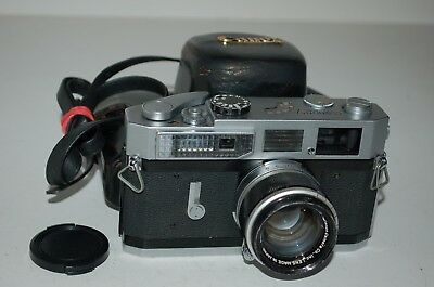 Canon-7 Vintage Japanese Rangefinder Camera & Lens. Serviced. 805383. UK Sale