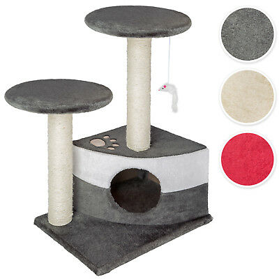 Cat Tree Scratcher Scratching Post Centre Column Complete Sisal 1 toy mouse