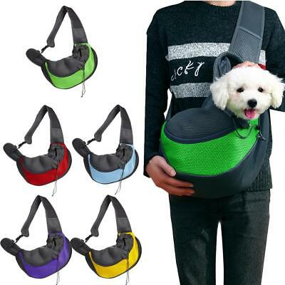 Small Pet Dog Carrier Travel Carrier Sling Bag Mesh Backpack Head Out Carrier