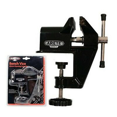 60mm TABLE BENCH VICE HOBBY CLAMP JEWELLERS JAW ALUMINIUM VISE WOODWORK #2