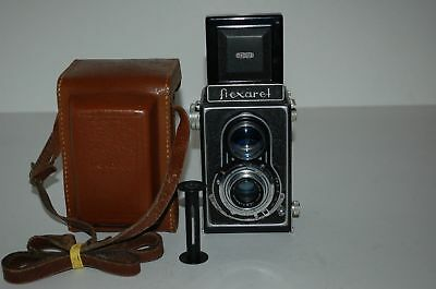 Meopta Flexaret IIa TLR Medium Format Camera & Case. 30117569a. 1946. UK Sale.