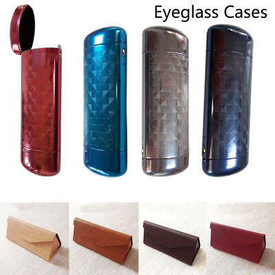Sunglasses Eye Glasses Hard Case Eyewear Protector Box with 5pcs Cleaning Cloth