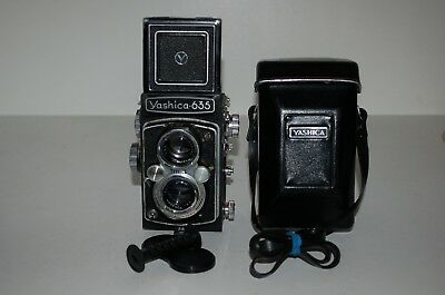 Yashica 635 Vintage 1958 TLR Double Format Camera. Serviced. SX9011275. UK Sale