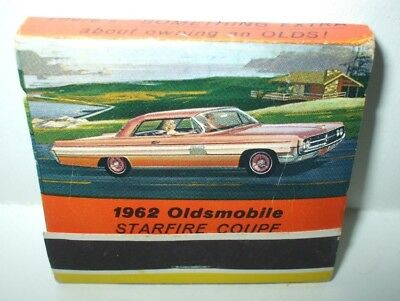 Vintage 1962 Oldsmobile Starfire Coupe Matchbook - Roth Motors Inc. Pennsylvania